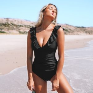 Monokini Black Ruffled 27