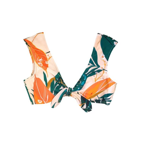 Bikini top Orange Floral Bow-knot 8