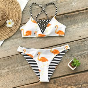 Bikini  Orange Flamingo 5