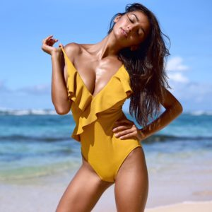 Monokini Happy Ending Yellow Solid  17