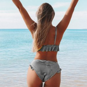 Bikini Black and White Gingham 8